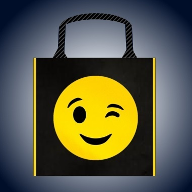 Schnittmuster Handtasche, quadratisch, 20 cm, Serie Smiley, Model What´s the what