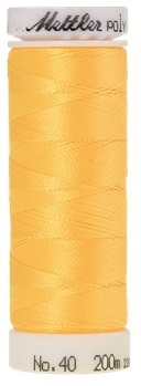 Mettler Stickgarn Poly Sheen Farbe 0706 Sunflower Gelb, Länge 200 m, ART.-NR. 3406 No. 40