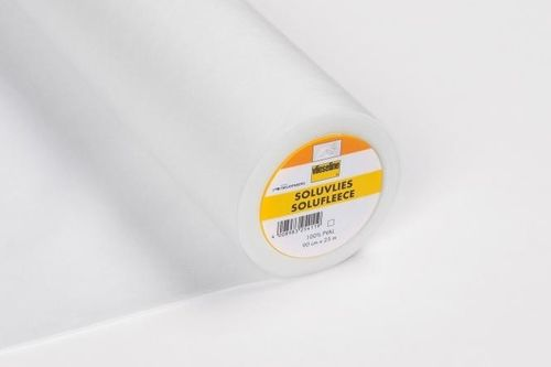 Vlieseline Soluvlies Embroidery Fleece - water soluble, 90 x 100 cm, white